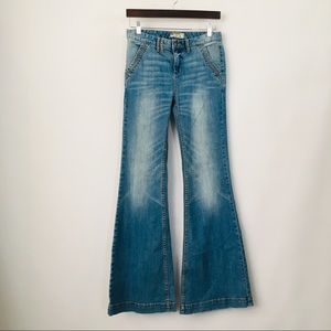 Free people high rise flare jeans / bell bottom